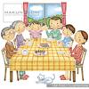 家族の日常生活を優しいテイストで描いたイラスト集です。