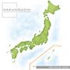 日本地図を水彩チックなイラストにしました。